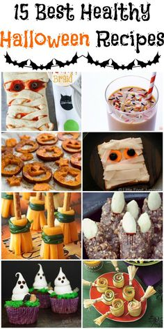 15 Best Healthy Halloween Recipes - have some fun all day long with Halloween recipes for breakfast, lunch, dinner, snack, dessert or even a party - Low Calorie, Low Fat