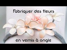 Fabriquer des fleurs en vernis en ongles - Tuto/DIY déco - YouTube
