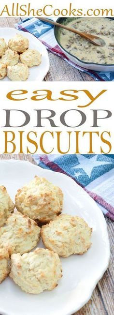 Homemade biscuits all purpose flour use ingredients you already have in your pantry. This recipe for drop biscuits is great and easy to make. #biscuits #breakfast #dropbiscuits #biscuitrecipes