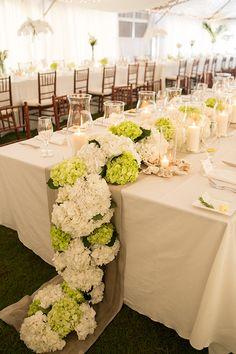 A hydrangea garland centerpiece   Brides.com