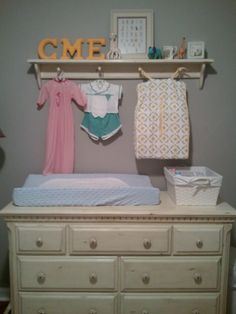 {three's a family} adventures: distressed {changing table}