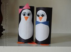 Cardboard Tube Penguins by @Amanda Formaro Crafts by Amanda