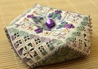 The Victoria Sampler - Free Patterns   Spring Biscornu      ❤ =^..^= ❤
