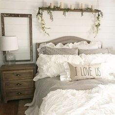 modern farmhouse bed #shabbychicbathroom