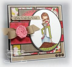 MFT à la mode - It's Getting Deep; card by Debbie Carriere - look at that rose ribbon