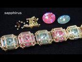 #Bracelet #crystal1122 #rivolibezel #Swarovski #ビーズステッチスワロフスキーリボリのベゼルブレスレット作り方 【ビーズステッチ】スワロフスキー(リボリ)のベゼルブレスレット☆作り方 How to make a bracelet. swarovski crystal/1122 rivoli/bezel - YouTube