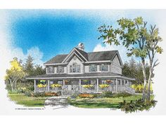 Farmhouse House Plan with 2692 Square Feet and 4 Bedrooms from Dream Home Source | House Plan Code DHSW01551