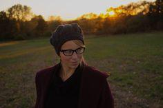 Beret, knitting, cables, handmade, sunset, elegance, aran, simple, gray beret, gray, autumn