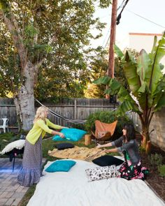An Outdoor Movie Party - I SO want to do this one day!