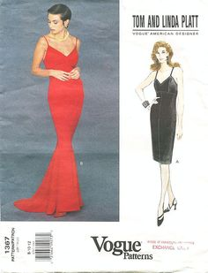 Sz 8/10/12 Vogue Dress Pattern 1367 by TOM & by ThePatternSource, $38.00