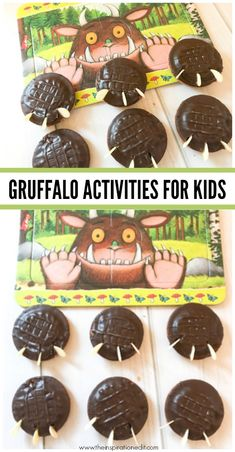 Are you looking for Gruffalo activity ideas. Look no further, here are some fantastic ideas to extend a child's interest in The Grufflo and promote reading, literacy along with interest based play #Thegruffalo #kidscrafts #cookies #gruffalocookies #gruffalofeet #gruffalogames #reading #kltr #kidslovetoread #books #readwithkids #preschool #kindergarten #preschoollife