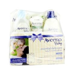 Aveeno Baby Gift Set Daily Care Essentials Basket Baby and Mommy Gift Set