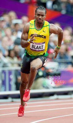 Yohan Blake corrent als Jocs Olímpics de Londres 2012.