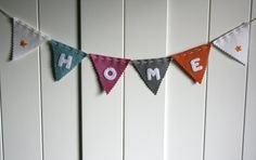 home mini wool felt bunting - all of these words alone make me melt - $13.05 USD stitch and purl etsy shop