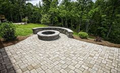 Outdoor living with a fire pit.  Great space for entertaining!