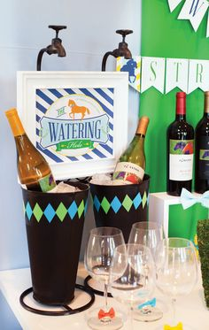 """New Preppy Paddock Kentucky Derby Party Theme. Love the """"Watering Hole"""" idea"""
