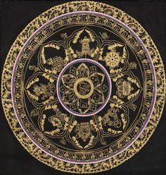 Om Mandala with Astamandala