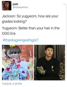 im going to hell for laughing bc this is something yugyeom would say holidays humour Got7 Meme, Got7 Funny, Bts Memes, Yugyeom, Youngjae, Live Meme, Got7 Jackson, Jackson Wang, Pop Bands