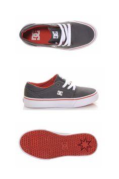 b486539b2c84 Boys  DC Trase TX 3.5-7 Skate Shoes