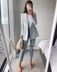 Glamouröse Outfits, Casual Work Outfits, Blazer Outfits, Business Casual Outfits, Professional Outfits, Office Outfits, Business Fashion, Classy Outfits, Stylish Outfits