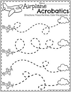 Preschool Transportation Unit - Planning Playtime Preschool Tracing Worksheets - Airplane Acrobatics for a Transportation Theme Preschool Writing, Preschool Curriculum, Preschool Lessons, Preschool Classroom, Preschool Learning, Preschool Crafts, Learning Activities, Preschool Pictures, Vocabulary Activities
