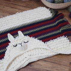 Crochet Blankets Design Hooded Alpaca my Llama Blanket by MJ's Off The Hook Designs Comes in Child and Adult Size! Alpaca Blanket, Knitted Baby Blankets, Llama Alpaca, Crochet For Beginners Blanket, Crochet Blanket Patterns, Crochet Shawl, Knitting Designs, Crochet Designs, Knitting Ideas