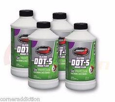 Dot 5 Silicone Brake Fluid 4 - 12 FL OZ Bottles Physical And Chemical Properties, Brake Fluid, Bottles, Dots, Products, Stitches, Gadget