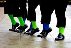 Seattle Seahawks themed wedding...down to the groomsmen socks