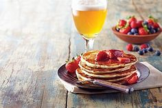 Berliner Weisse Pancakes with Strawberry Compote recipe by Carolyn Malcoun More information on Berlin: visitBerlin.com