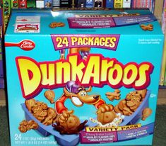 "Dunkaroos! Can't believe we actually considered most 90s kids snacks ""food."""