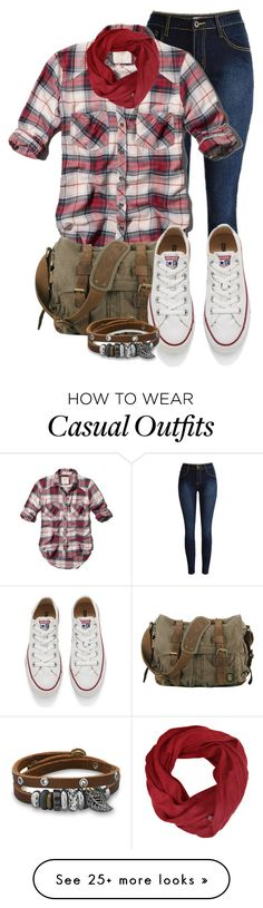 """""""casual"""" by alice-fortuna on Polyvore featuring Abercrombie & Fitch, Converse, women's clothing, women's fashion, women, female, woman, misses and juniors"""