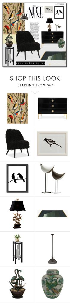 """""""Bird Home Decor"""" by aidasusisilva ❤ liked on Polyvore featuring interior, interiors, interior design, home, home decor, interior decorating, Improvements, Americanflat, Bitossi and Neiman Marcus"""