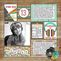 Digital Scrapbook Page Layout by Juli using Not Quite a Mr Papers, Elements and Journal Cards from Etc by Danyale at The Lilypad #etcbydanyale #digitalscrapbooking #memorykeeping #teenager