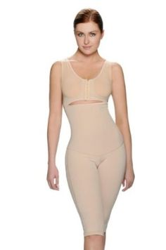 Body Shaper With Zipper Front Flexible Bra Cups That Are Stretchable To Fit Cups B To E