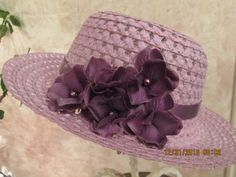 Girl's Easter Hat  Purple Easter Hat for by IsabellasHatsandBows, $16.99
