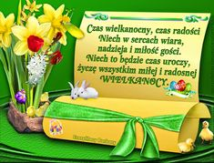 CzaryMary Barbary: NAJPIĘKNIEJSZE KARTKI NA WIELKANOC Happy Birthday Wishes Cards, Beautiful Love Pictures, Motto, Happy Easter, Lunch Box, Thoughts, Humor, Holiday, Hairstyles