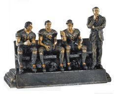 Antique Gold Football Coach