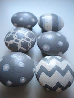 Drawer Knobs for Children- Handpainted- GEO MOD Theme- Set of 6- Great for Gender Neutral Nurseries on Etsy, $39.00