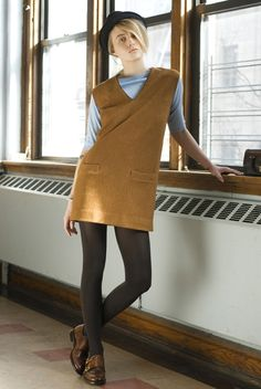 mod mini jumper—could probably draft a similar pattern and sew pretty easily. maybe? (also the shoes are perfection)  /  thom dolan fall 2012