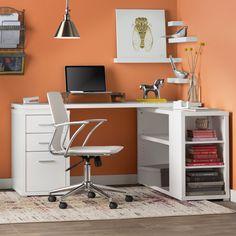 Senga Down 3 Drawer L-Shape Computer Desk & Reviews | AllModern