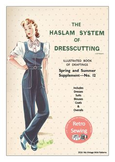 The Haslam System of Dressmaking No. 12 1940's  by MyVintageWish