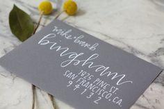 Hand lettered envelope - Bingham Layout