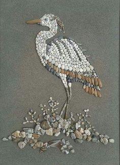 Pebble Mosaic, Pebble Art, Mosaic Art, Stone Crafts, Rock Crafts, Arts And Crafts, Pebble Painting, Stone Painting, Art Pierre