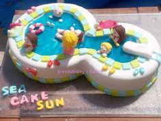 Le gâteau swimming pool de Gwendoline ! Du beau boulot