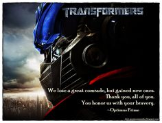 A necessary sacrifice to bring peace to this planet. We can not let the humans pay for our mistakes.It's been an honor serving with you all. #OptimusPrime #Transformers