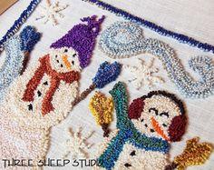 Punch Needle Snowmen - Three Sheep Studio