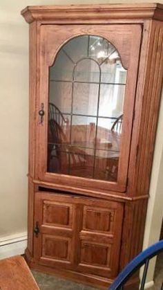 Broyhill Attic Heirlooms Corner Hutch In Oak Stain ❤️