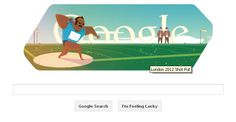 "Today (August 03, 2012, Friday) Google is featuring ""Shot Put"" by showing the Doodle ""London 2012 shot put"". This is the Eighth Doodle for the London 2012 Summer Olympics."