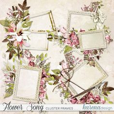 Digital Scrapbooking, Decorative Boxes, Frames, Gift Wrapping, Kit, Songs, Shop, Flowers, Collection