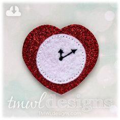 Heart Clock Feltie